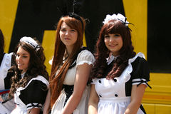 Young cosplay grls Royalty Free Stock Image