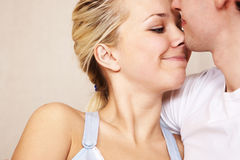 Young couple. In intimate moment Royalty Free Stock Images