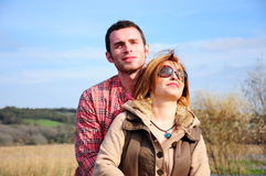 Young couple. A young couple at nature Stock Image