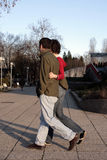 Young couple. In love walking together on sunny day Stock Photography