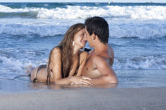 Young couple. Relaxing on the beach Royalty Free Stock Photography