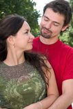 Young couple. A couple in their thirties cuddling Stock Photography