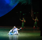 Young couple-Acrobatic showBaixi Dream Night Royalty Free Stock Image