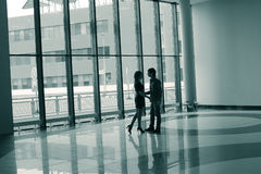 Young couple in airport Royalty Free Stock Photos