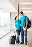 Young couple at airport Stock Photography