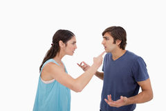Young couple arguing Royalty Free Stock Photography