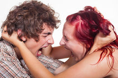 Young couple arguing Stock Images
