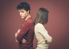 Young couple arguing Royalty Free Stock Images