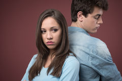 Young couple arguing Stock Photography