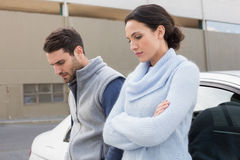 Young couple after an argument Stock Photography