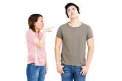Young couple into an argument Royalty Free Stock Photography
