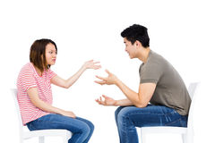 Young couple into an argument Stock Photo