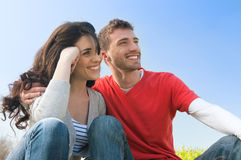 Young couple aspirations Stock Photo