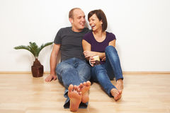 Young Couple At Home Royalty Free Stock Photos