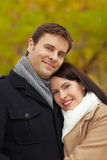 Young couple in autumn Royalty Free Stock Image