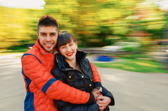 Young couple autumn Stock Photography
