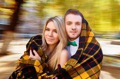 Young couple autumn Royalty Free Stock Photos