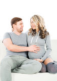 Young couple awaiting the birth of a child.  Stock Photo
