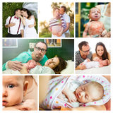Young couple and baby Royalty Free Stock Photography