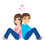 Young Couple Back To Back Royalty Free Stock Image
