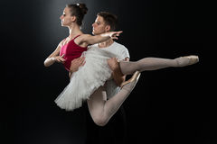 Young Couple Ballet Dancer Dancing Stock Photography