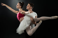 Young Couple Ballet Dancer Dancing Royalty Free Stock Photography