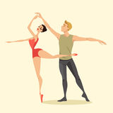 Young couple of ballet dancers Royalty Free Stock Photography