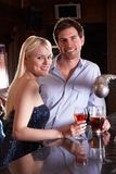Young couple at bar Stock Photography