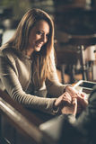Young couple at the bar Stock Photography