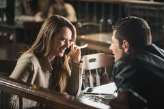 Young couple at the bar Royalty Free Stock Photography