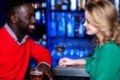 Young couple at bar Stock Photo