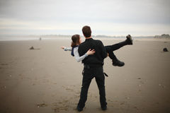 Young couple on the beach Royalty Free Stock Photo