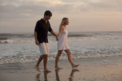 Young Couple at Beach Royalty Free Stock Photo