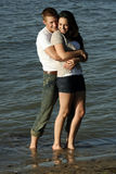 Young Couple at the Beach Royalty Free Stock Photography