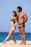 Young couple at the beach Stock Photos