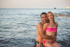 Young Couple at Beach Royalty Free Stock Photography