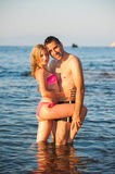 Young Couple at Beach Royalty Free Stock Photos