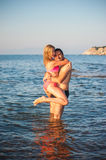 Young Couple at Beach Stock Photo