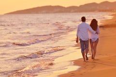 Young couple on beach have fun stock photos