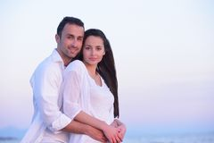 Young couple  on beach have fun Royalty Free Stock Images