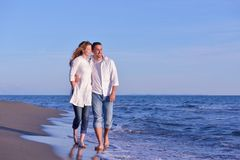 Young couple  on beach have fun Royalty Free Stock Photos