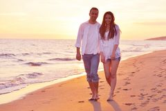 Young couple  on beach have fun Royalty Free Stock Photo