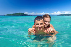 Young couple on beach holiday Royalty Free Stock Image