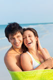 Young Couple on Beach Royalty Free Stock Photos
