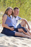 Young couple at beach Stock Photography
