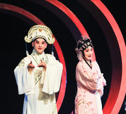 A young couple in beijing opera Royalty Free Stock Photography