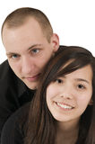 Young couple in black Royalty Free Stock Images