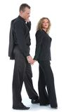 Young couple in black dress Stock Photo