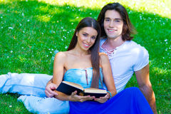 Young couple with book Stock Photos