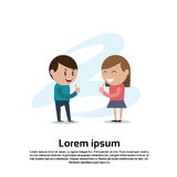 Young Couple Boy And Girl Teenagers Thumb Up Hand Gesture Royalty Free Stock Images